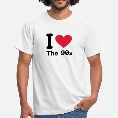 I Love The 90s I love the 90s - Mannen T-shirt