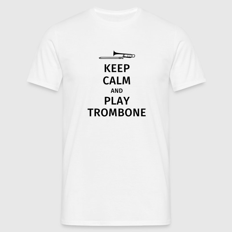 keep calm and play trombone - Maglietta da uomo