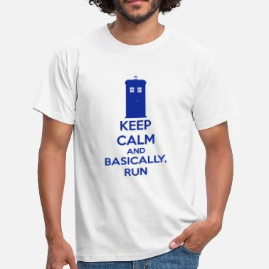 Running Nerd Keep Calm And Basically, Run - Men's T-Shirt