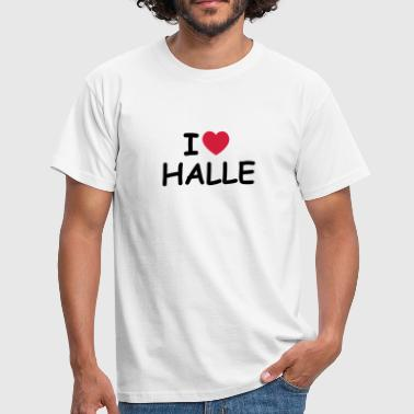 I heart/love Halle - Männer T-Shirt