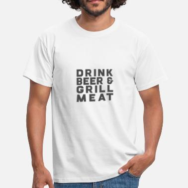 Grilled Meat Drink Beer Grill Meat - Men's T-Shirt