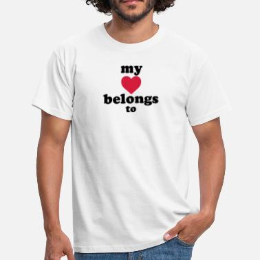 Ciudad my heart belongs to + text - Camiseta hombre