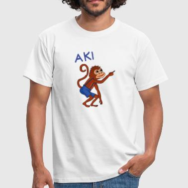 Monkey Island Aki, the funny monkey from the cloud island - Men's T-Shirt