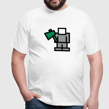 Pixel Game Woodcutter - Men's T-Shirt