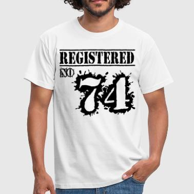 Registered No 74 - 42nd Birthday - Men's T-Shirt