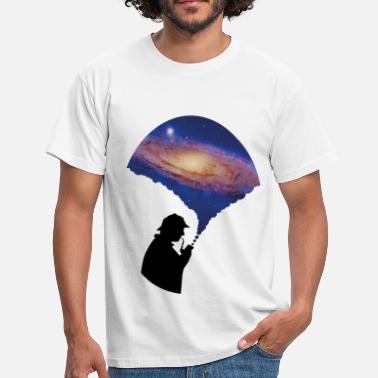 Birthday Caps &amp Galaxy Art - Men's T-Shirt
