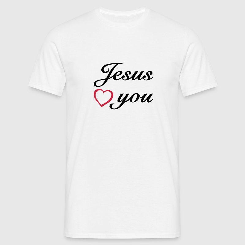 Jesus loves you. Religion Christianity christ - Men's T-Shirt