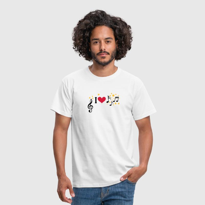 I love music. Add your own text, star, singer band - Men's T-Shirt