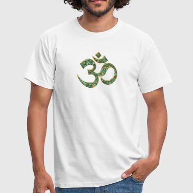 Bliss Sacred OM (AUM - I AM), turquoise, manifestation of spiritual strength, The energy symbol gives balance, peace and bliss - Koszulka męska