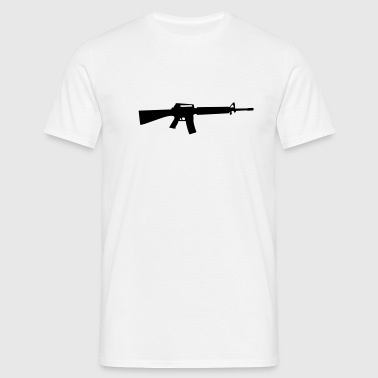 M16 M4 Rifle Gun Weapon machine - Men's T-Shirt