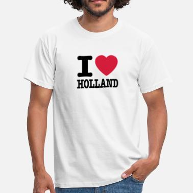 I Love The Netherlands i love holland NL - Mannen T-shirt