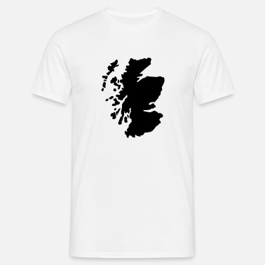 Map Scotland - Men's T-Shirt