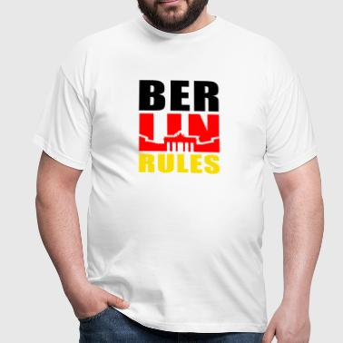 BERLIN RÈGLES Brandenburger Tor - T-shirt Homme