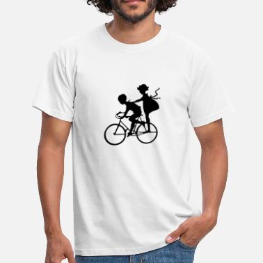 Kids Bike Kids on bike - Men's T-Shirt