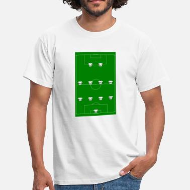 tactics 4-4-2 (green) - Mannen T-shirt