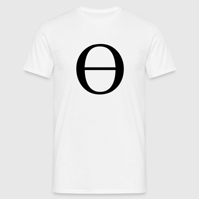 Greek Symbol - Lowercase Theta - Men's T-Shirt