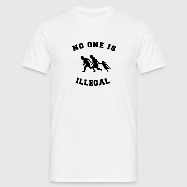 no one is illegal - T-shirt herr