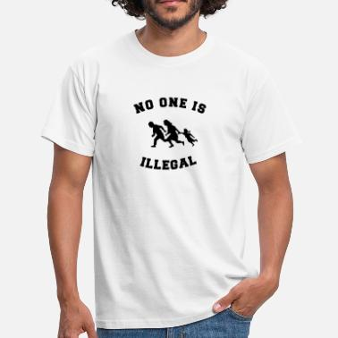 Människa no one is illegal - T-shirt herr