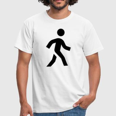 Walking Stick Walking Icon - Men's T-Shirt