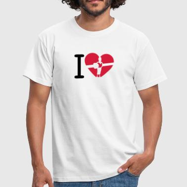 love boxe baby coeur foot heart2 - T-shirt Homme