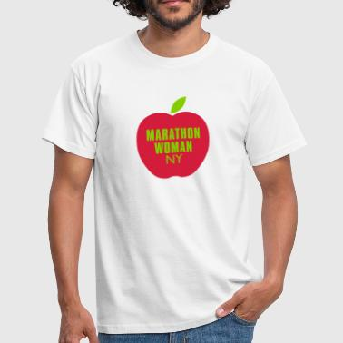marathon_woman_big_apple_ny - Männer T-Shirt