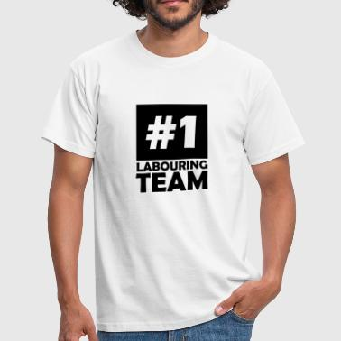 number one labouring team - Men's T-Shirt