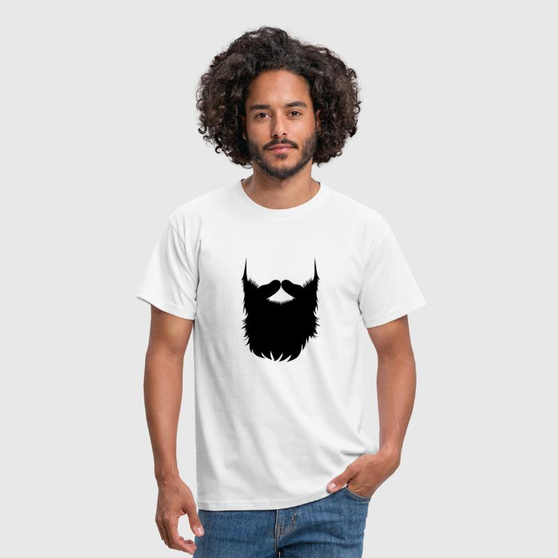 Hipster Beard Vector - Men's T-Shirt