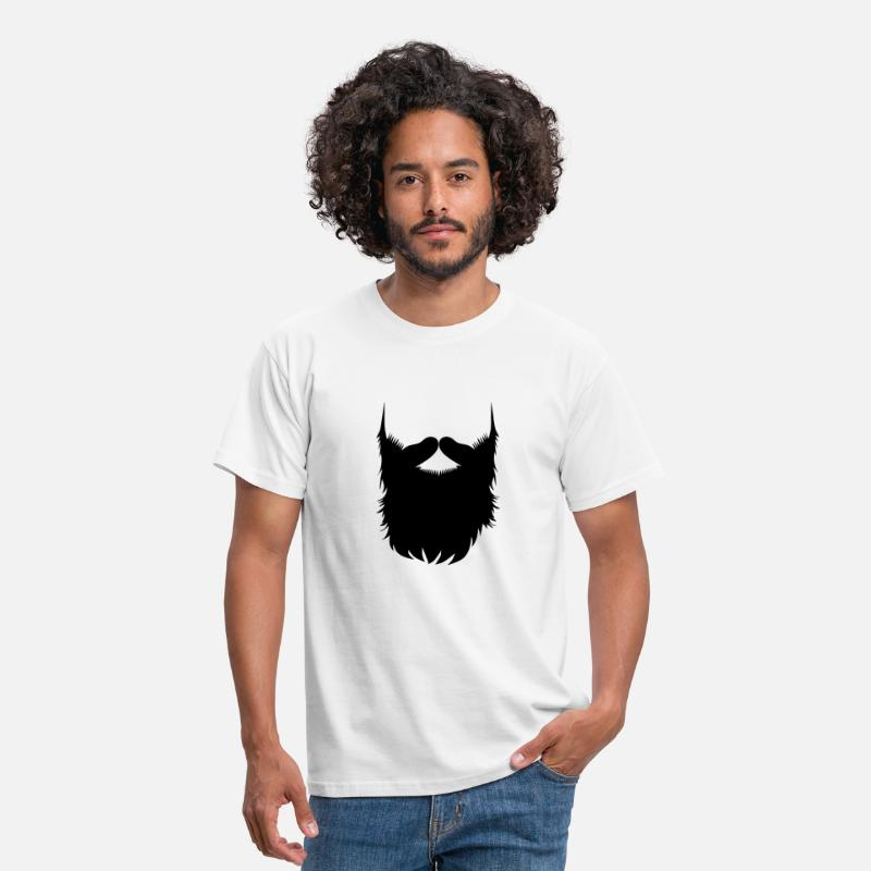 Cool T-Shirts - Hipster Beard Vector - Men's T-Shirt white
