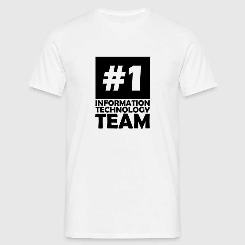 number one information technology team - Men's T-Shirt