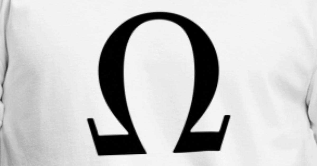 Greek Symbol Omega By Tshirtdesigns Spreadshirt
