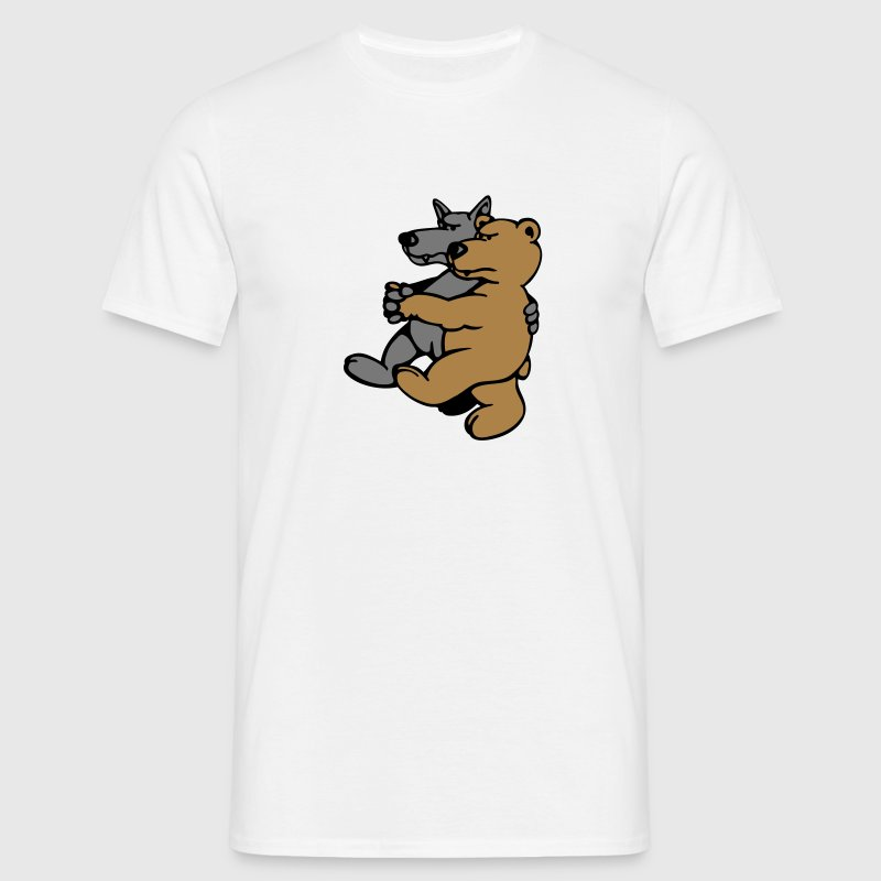 Wolf and Bear  Aprons - Men's T-Shirt