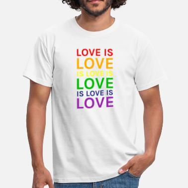 Loving Love is Love is Love is Love Rainbow - Men's T-Shirt