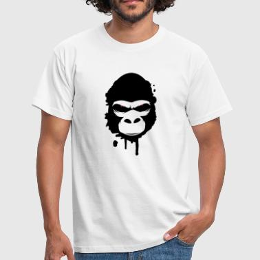 gorilla head Graffiti - Men's T-Shirt