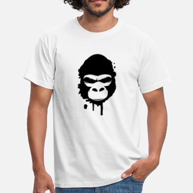 Glowing Eyes gorilla head Graffiti - Men's T-Shirt