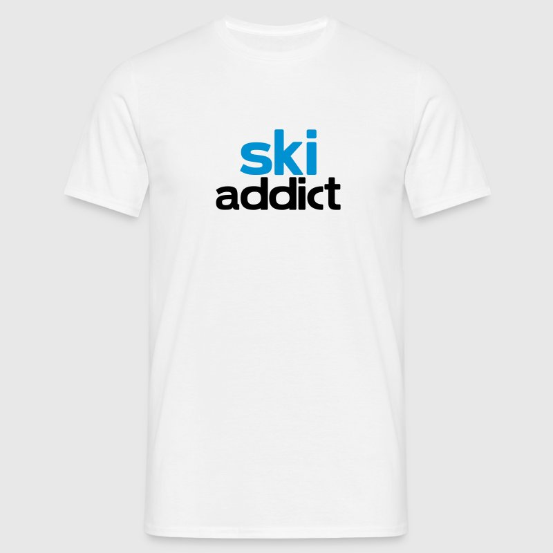 ski addict - Men's T-Shirt