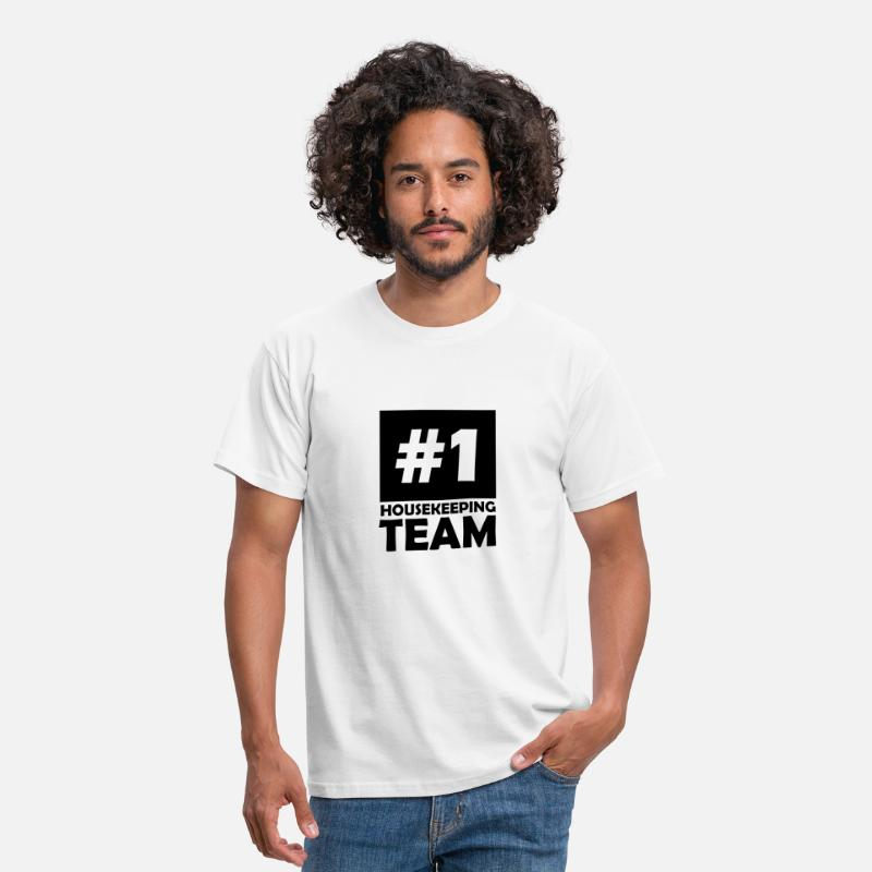 Best T-Shirts - number one housekeeping team - Men's T-Shirt white
