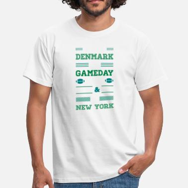 New York Jets I may live in Denmark... (New York edition) - Herre-T-shirt
