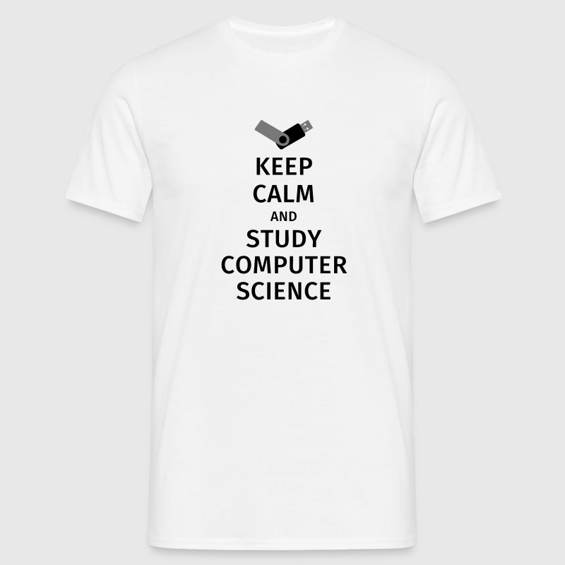 keep calm and study computer science - Men's T-Shirt