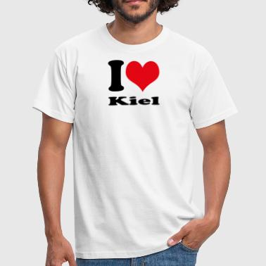 I love Kiel - Men's T-Shirt