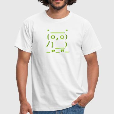 Emoticon ASCII-art: owl - Men's T-Shirt