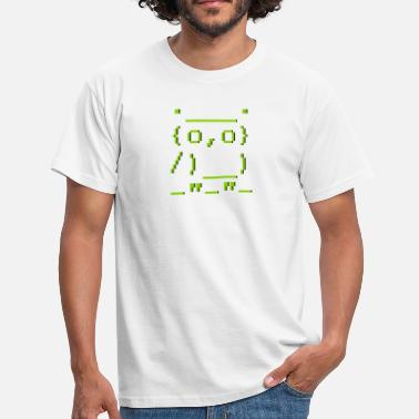 Software ASCII-art: owl - Eule - Männer T-Shirt