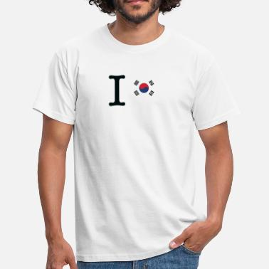 Lego I Love South Korea - Men's T-Shirt