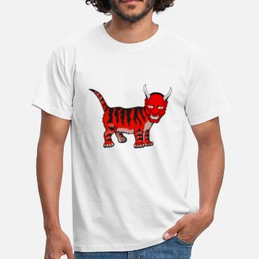 Hell Satan cat hell - Men's T-Shirt