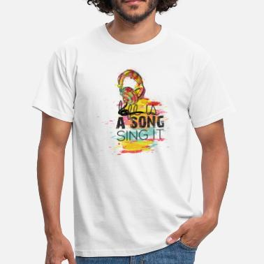 Song LIFE IS A SONG, SING IT - Männer T-Shirt