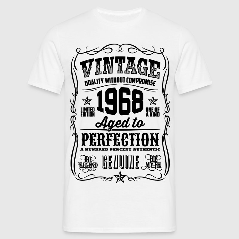 Vintage 1968 Aged to Perfection black - Men's T-Shirt