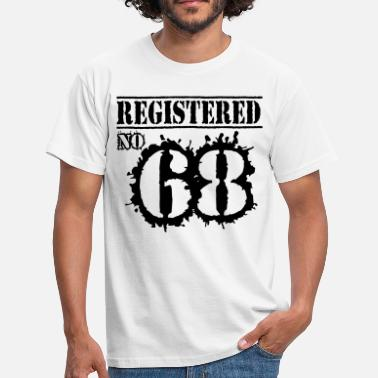 68 Birthday Registered No 68 - 48th Birthday - Men's T-Shirt