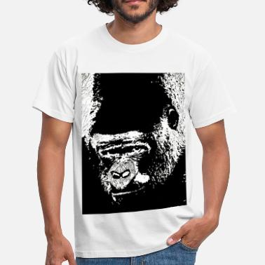 Lino Cut Gorilla Gaze - Men's T-Shirt