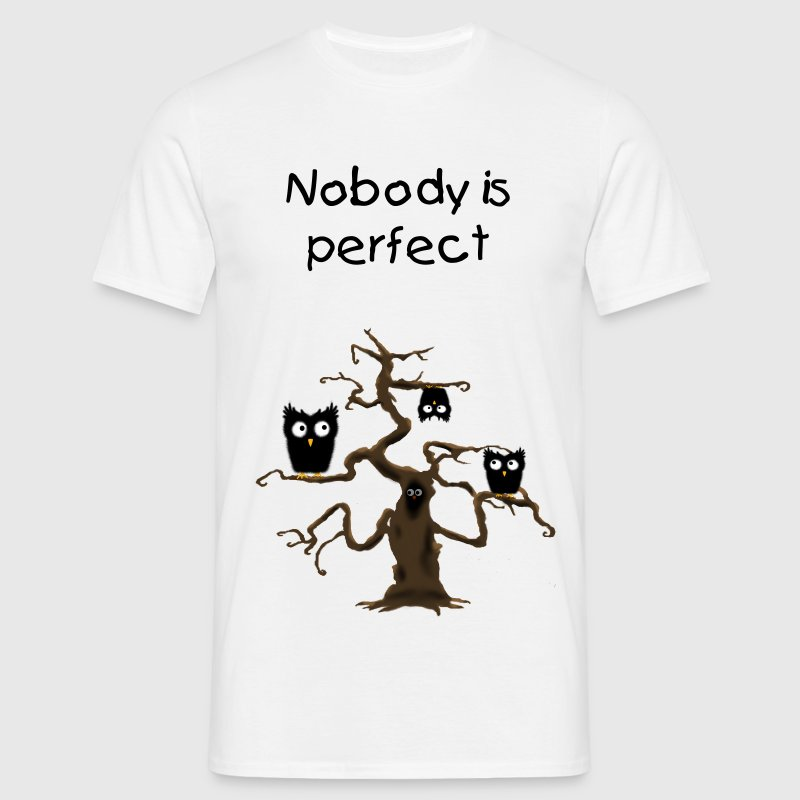 Nobody is perfect owl - Men's T-Shirt