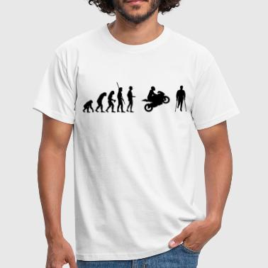 Evolution Ninja Evolution motorcycle accident  - Men's T-Shirt