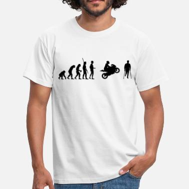 Accident Evolution motorcycle accident  - Men's T-Shirt
